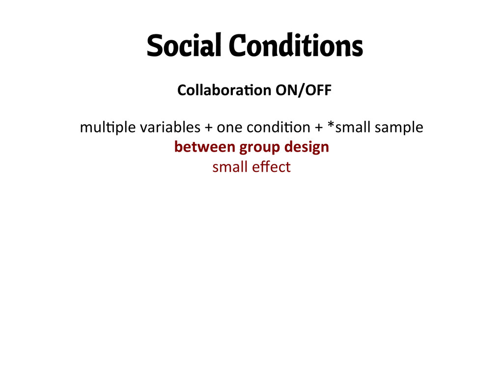 """Social Conditions Collabora""""on ON/OFF  mu..."""