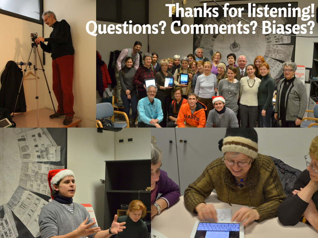 Thanks for listening! Questions? Comments? Bias...
