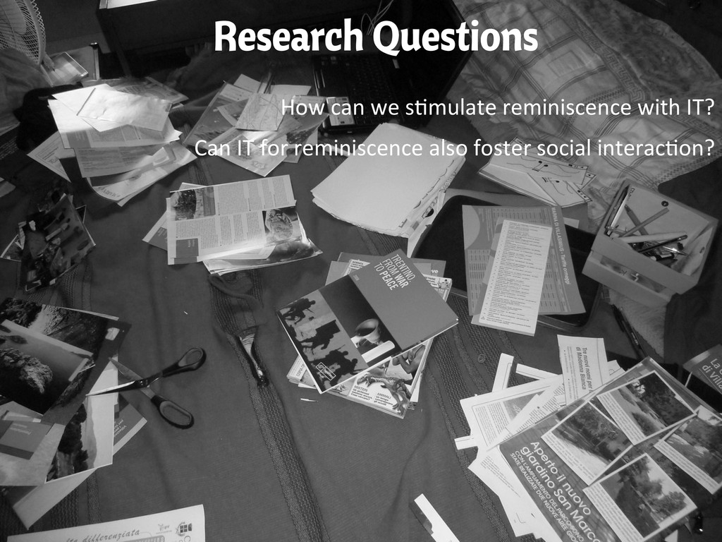 Research Questions How can we s(mulate...
