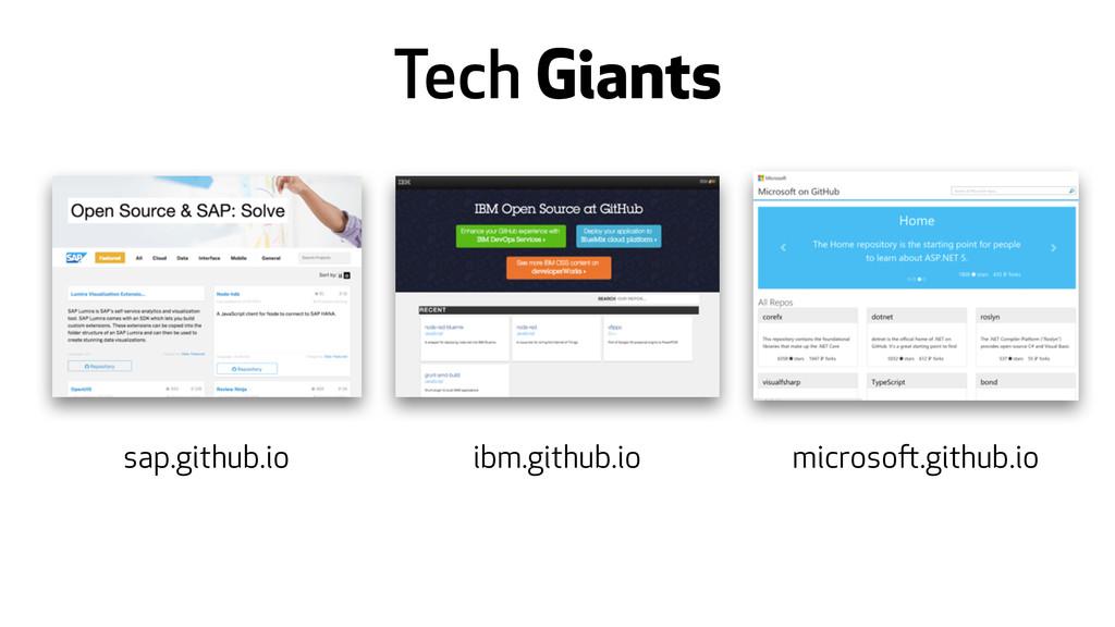 Tech Giants sap.github.io ibm.github.io microso...