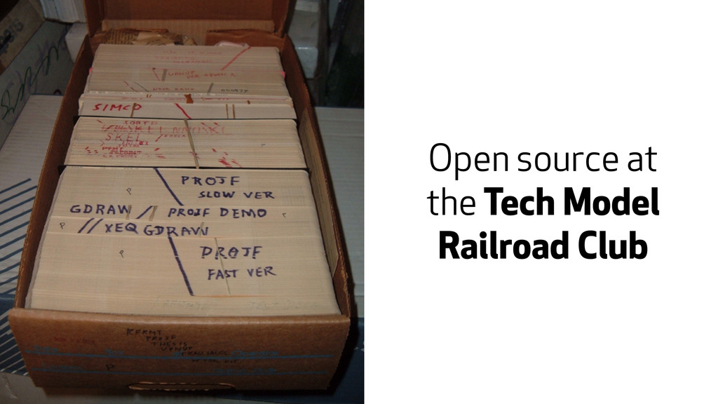 Open source at the Tech Model Railroad Club