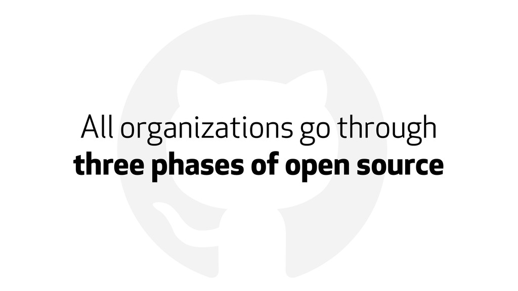 ! All organizations go through three phases of ...