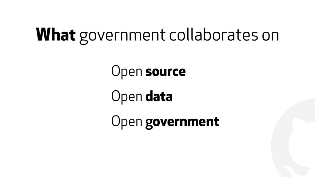 ! What government collaborates on Open source O...