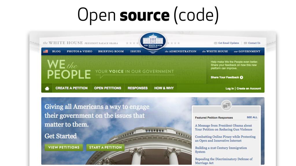 Open source (code)