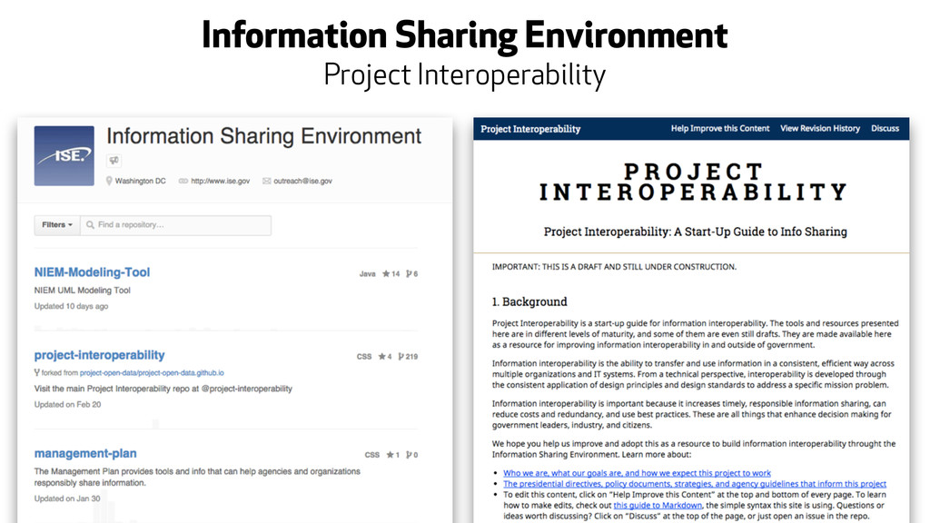 Information Sharing Environment Project Interop...