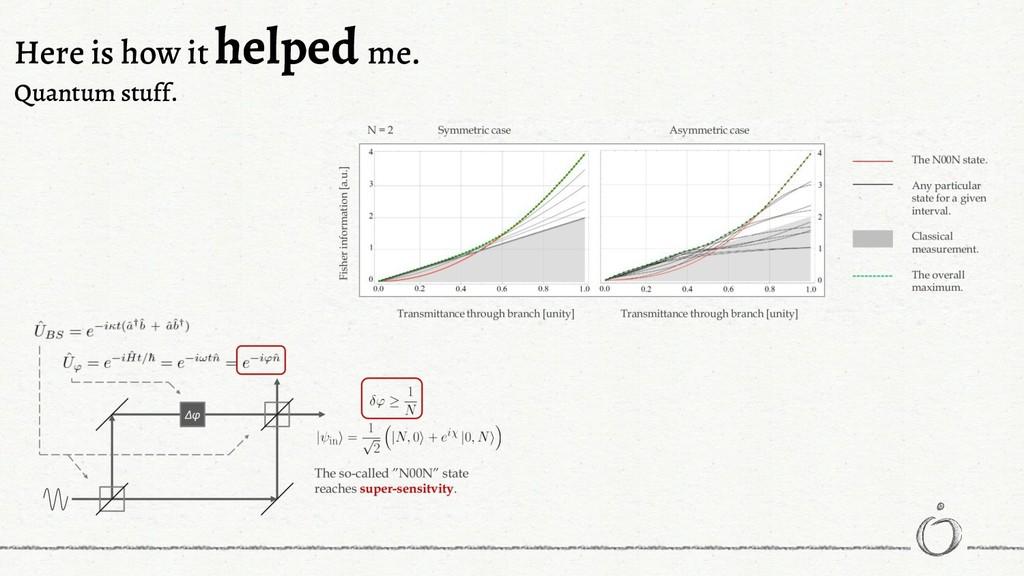 Here is how it helped me. Quantum stuff.