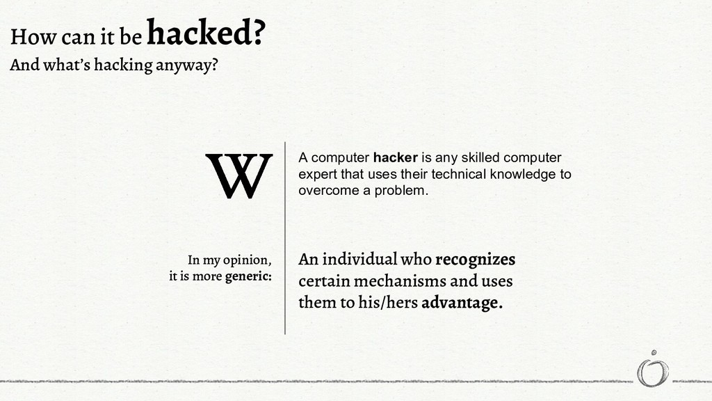 A computer hacker is any skilled computer exper...