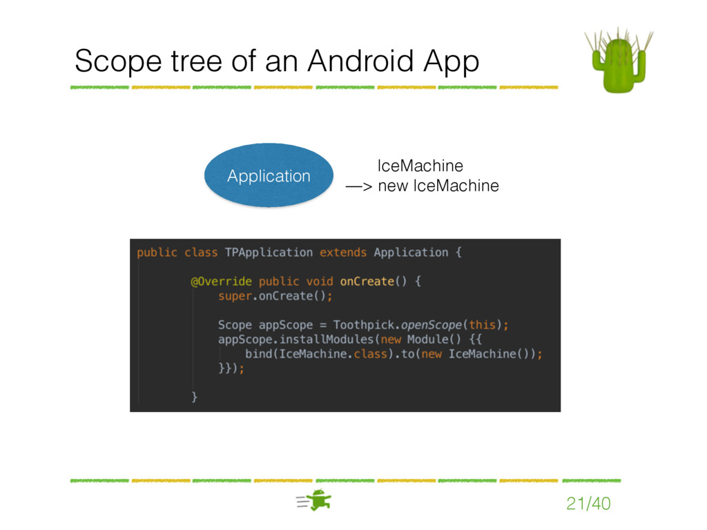 Scope tree of an Android App 21/40 Application ...
