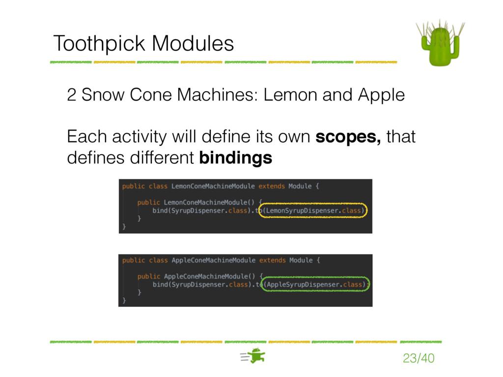 23/40 Toothpick Modules 2 Snow Cone Machines: L...