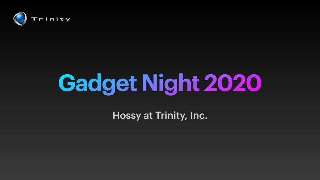 Gadget Night 2020 Hossy at Trinity, Inc.