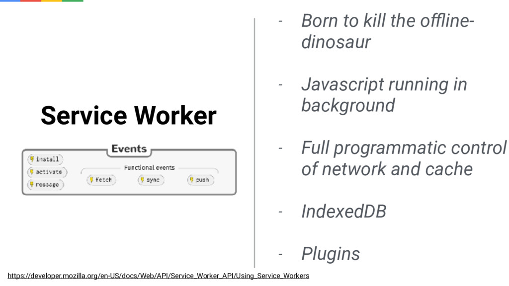 Service Worker - Born to kill the offline- dinosa...