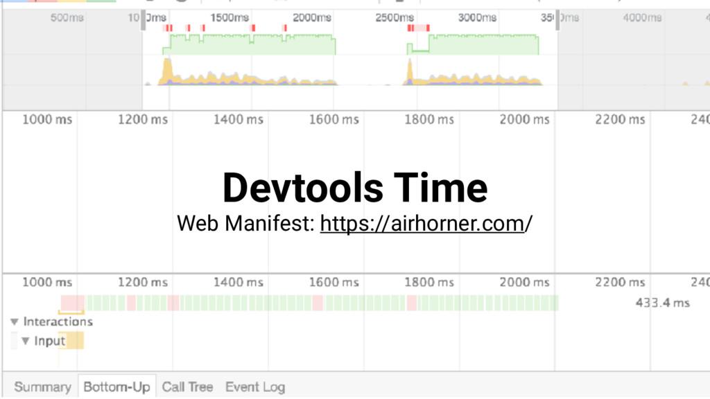 Devtools Time Web Manifest: https://airhorner.c...