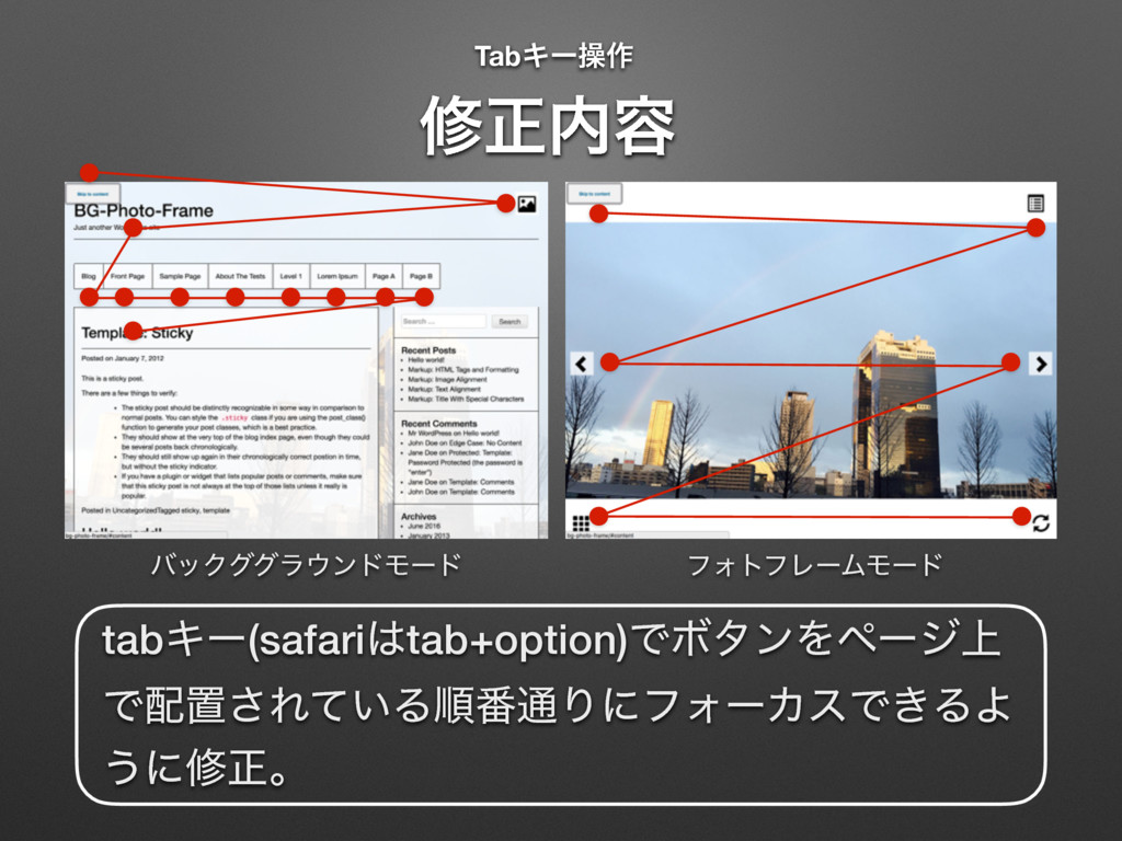 TabΩʔૢ࡞ ɹ मਖ਼಺༰ tabΩʔ(safari͸tab+option)ͰϘλϯΛϖʔδ...