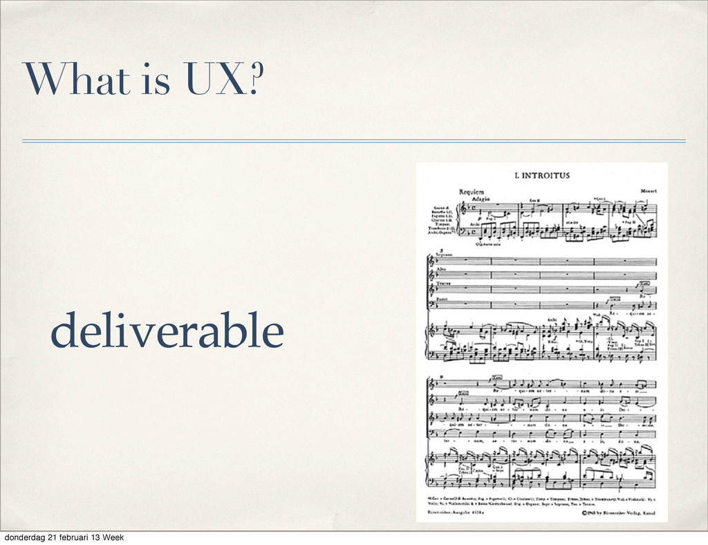 What is UX? deliverable donderdag 21 februari 1...