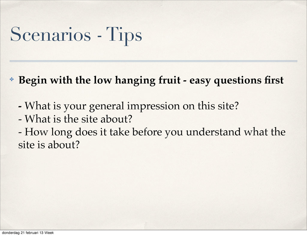 ✤ Begin with the low hanging fruit - easy quest...