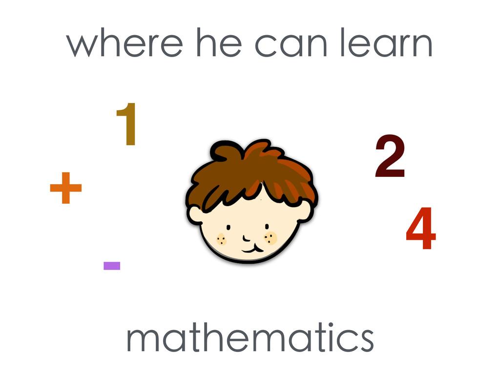 where he can learn mathematics 1 2 4 + -