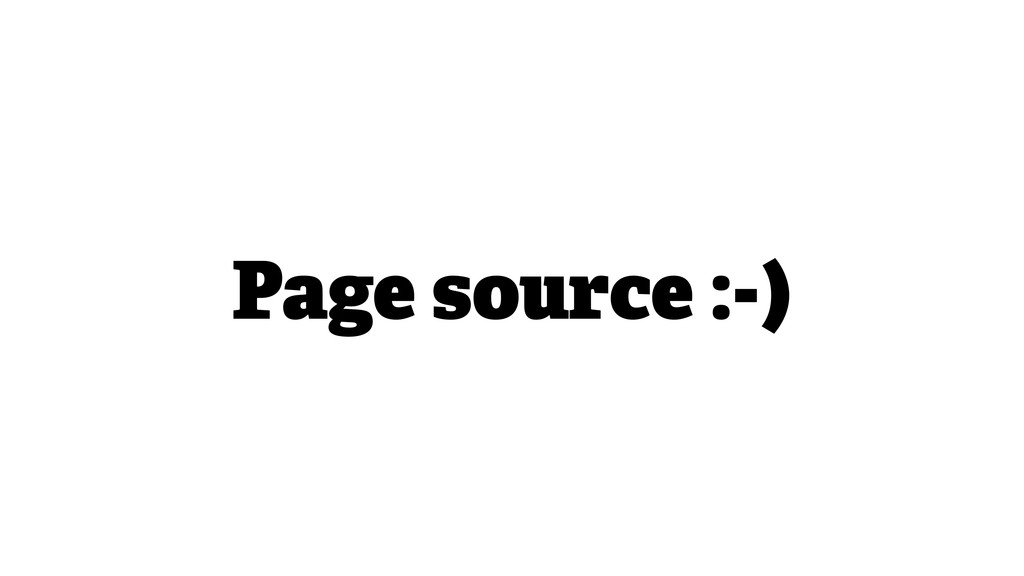 Page source :-)