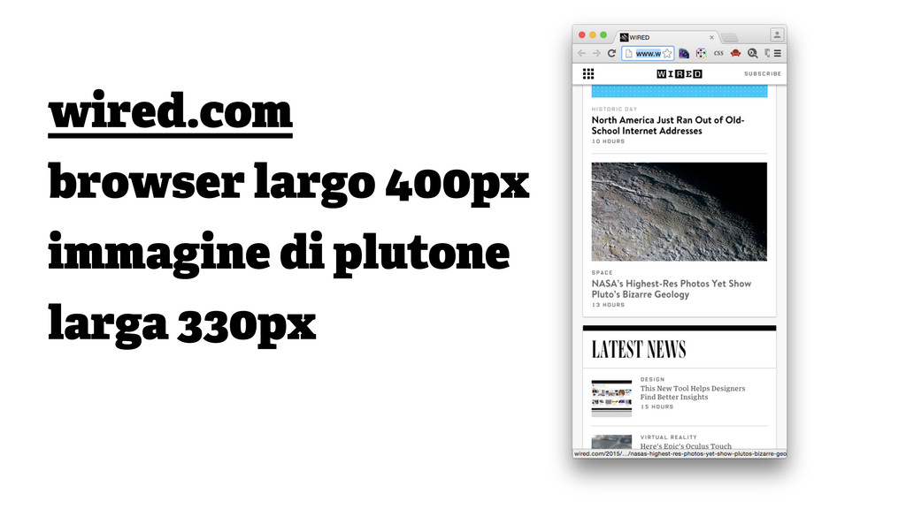 wired.com browser largo 400px immagine di pluto...