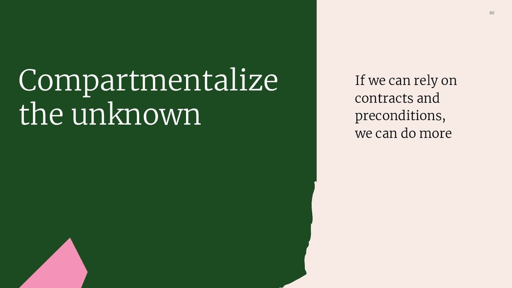 80 If we can rely on contracts and precondition...