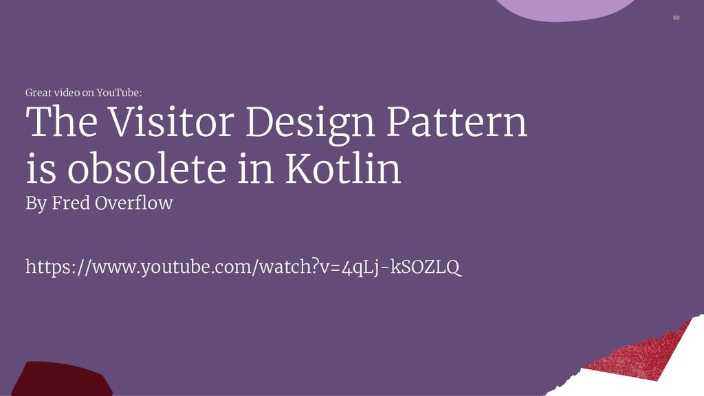 88 Great video on YouTube: The Visitor Design P...