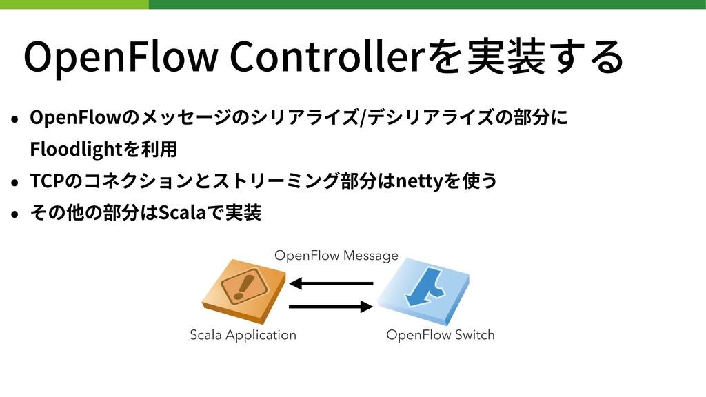 OpenFlow Controllerを実装する • OpenFlowのメッセージのシリアライ...