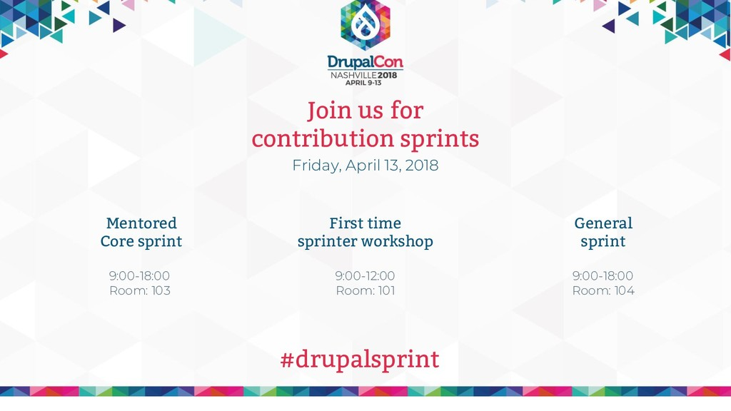 Join us for contribution sprints Friday, April ...