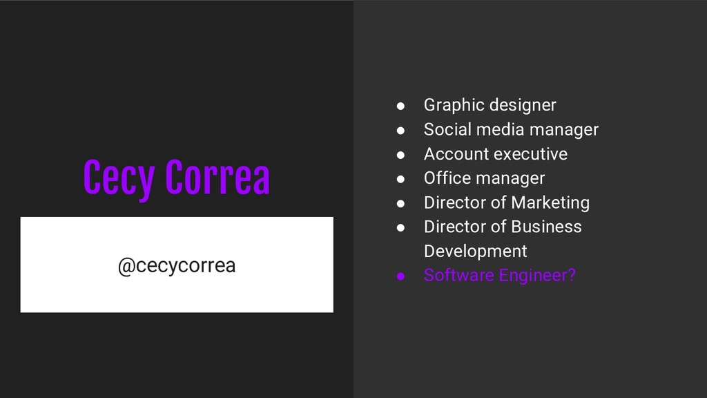 Cecy Correa @cecycorrea ● Graphic designer ● So...