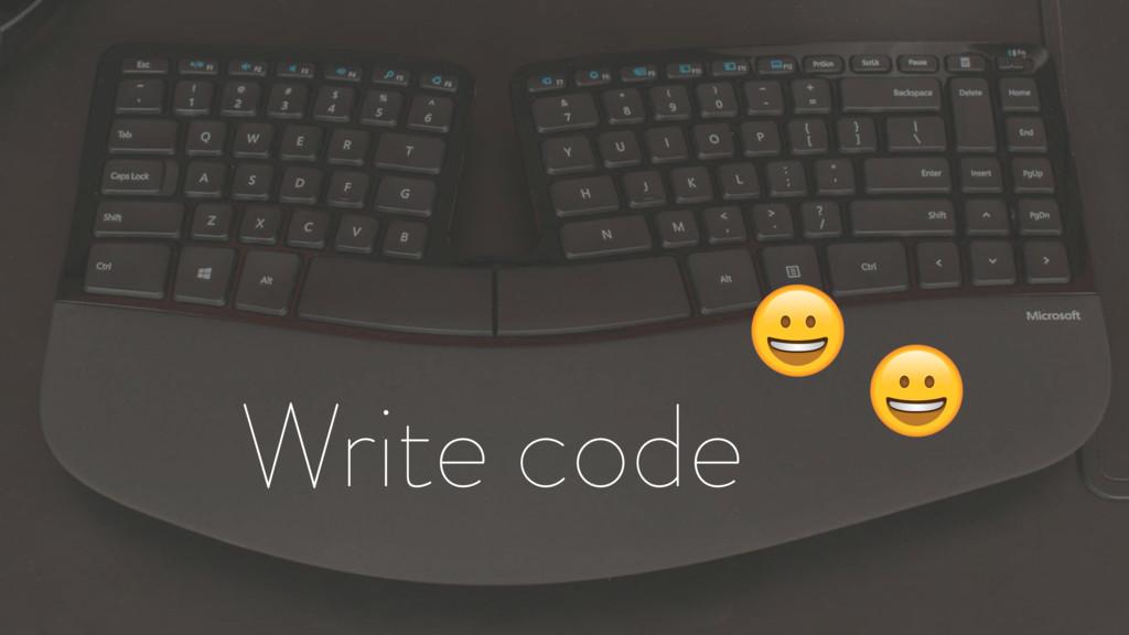 Write code