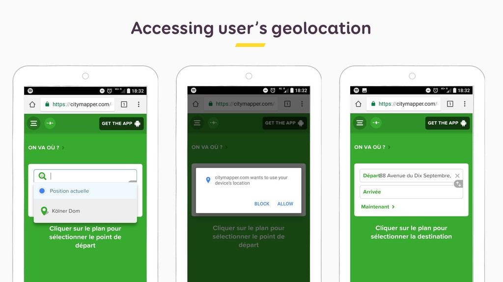 Accessing user's geolocation