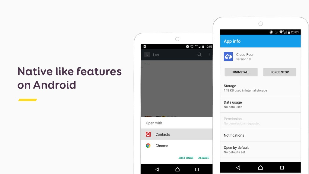 Native like features on Android
