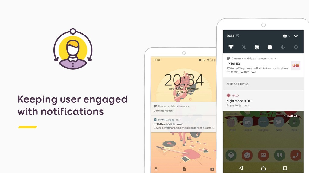 Keeping user engaged with notifications