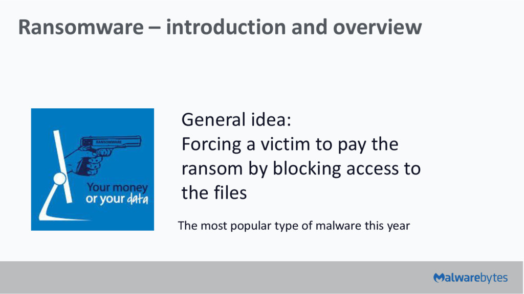 Ransomware – introduction and overview General ...