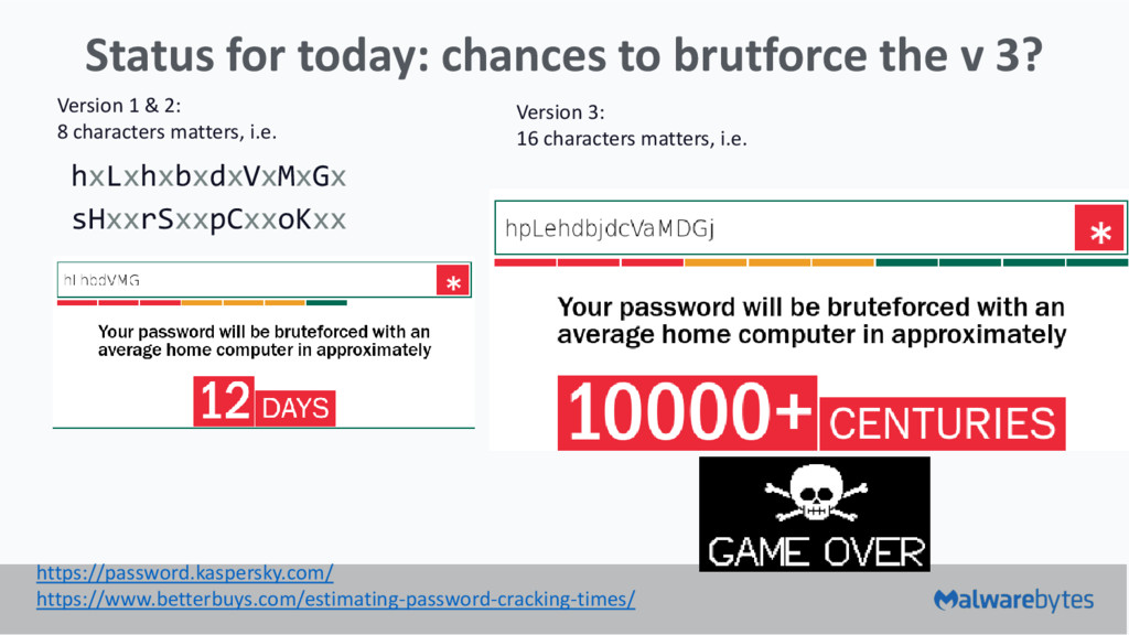 Status for today: chances to brutforce the v 3?...