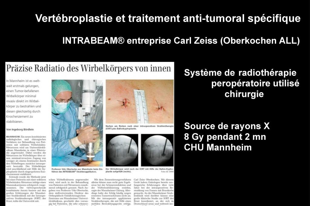 Vertébroplastie et traitement anti-tumoral spéc...