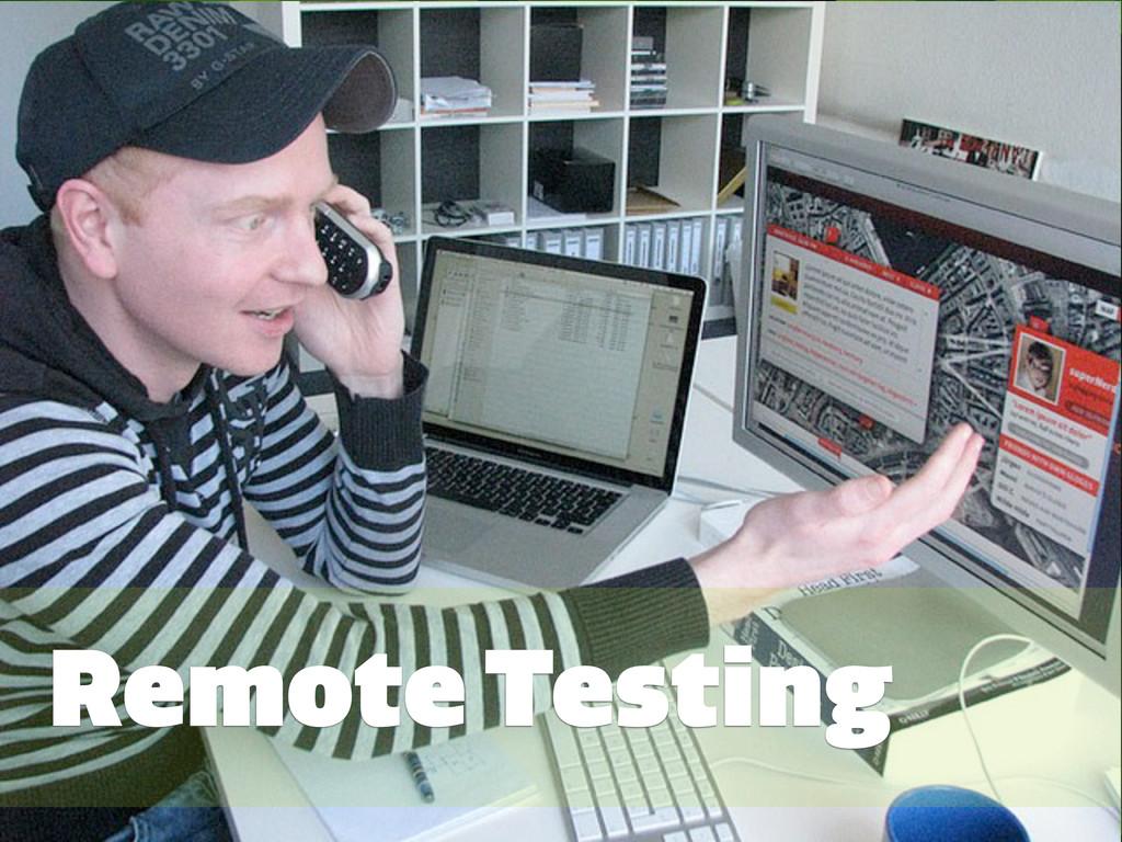#GRMethods | @zakiwarfel Remote Testing