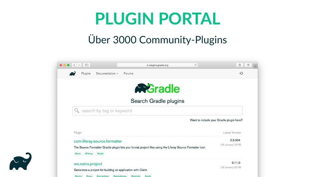 PLUGIN PORTAL Über 3000 Community‑Plugins