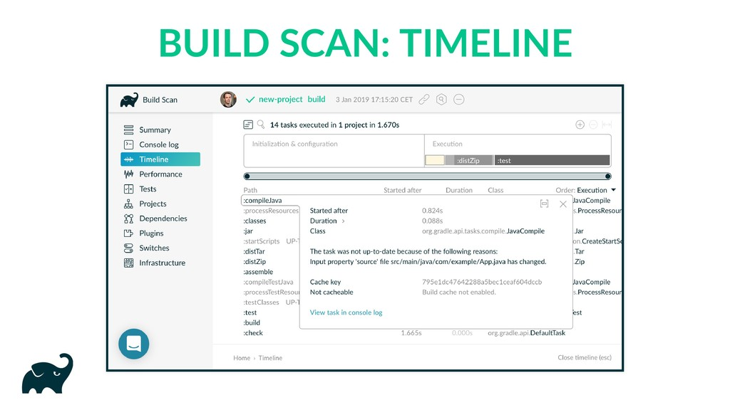 BUILD SCAN: TIMELINE