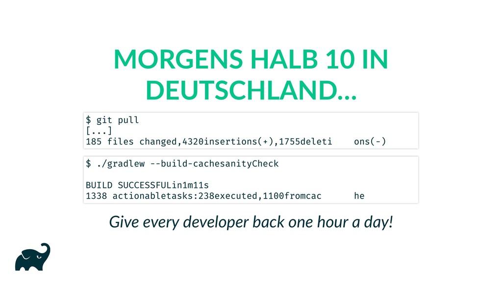 MORGENS HALB 10 IN DEUTSCHLAND… Give every deve...