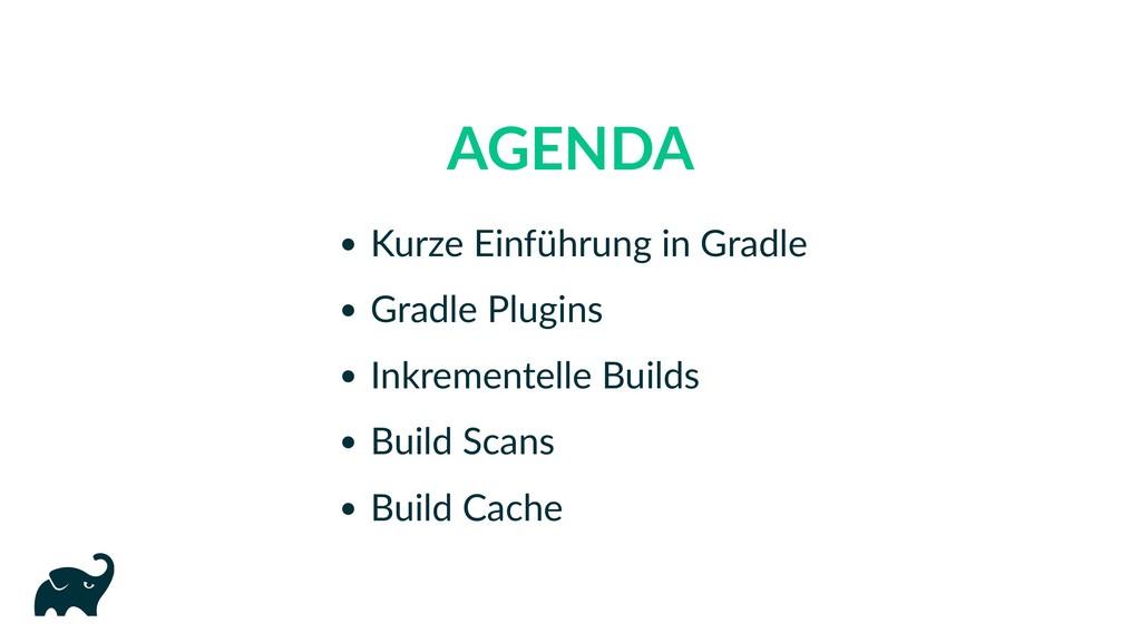 AGENDA Kurze Einführung in Gradle Gradle Plugin...