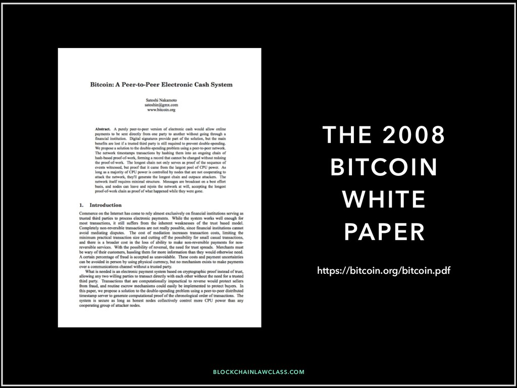 THE 2008 BITCOIN WHITE PAPER https://bitcoin.or...