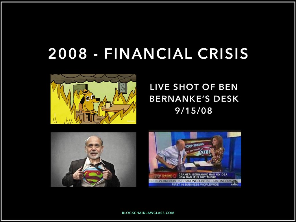 2008 - FINANCIAL CRISIS LIVE SHOT OF BEN BERNAN...