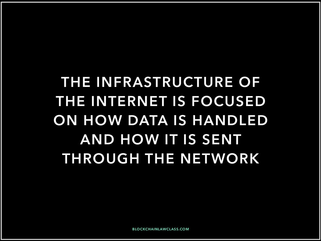 THE INFRASTRUCTURE OF THE INTERNET IS FOCUSED O...
