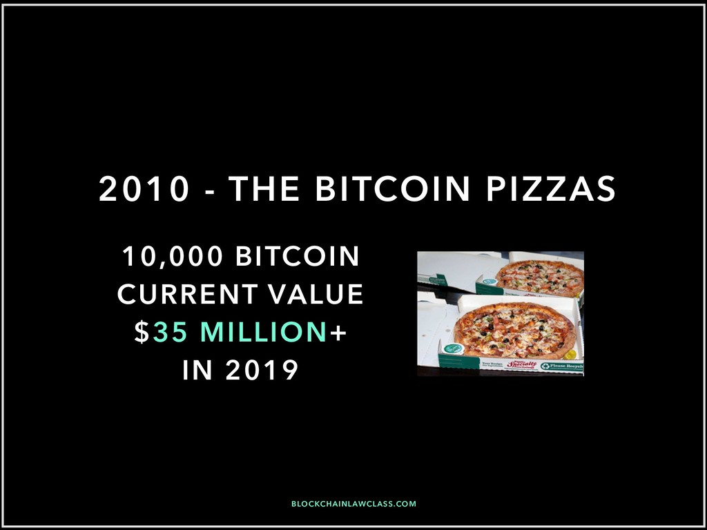 2010 - THE BITCOIN PIZZAS 10,000 BITCOIN CURREN...