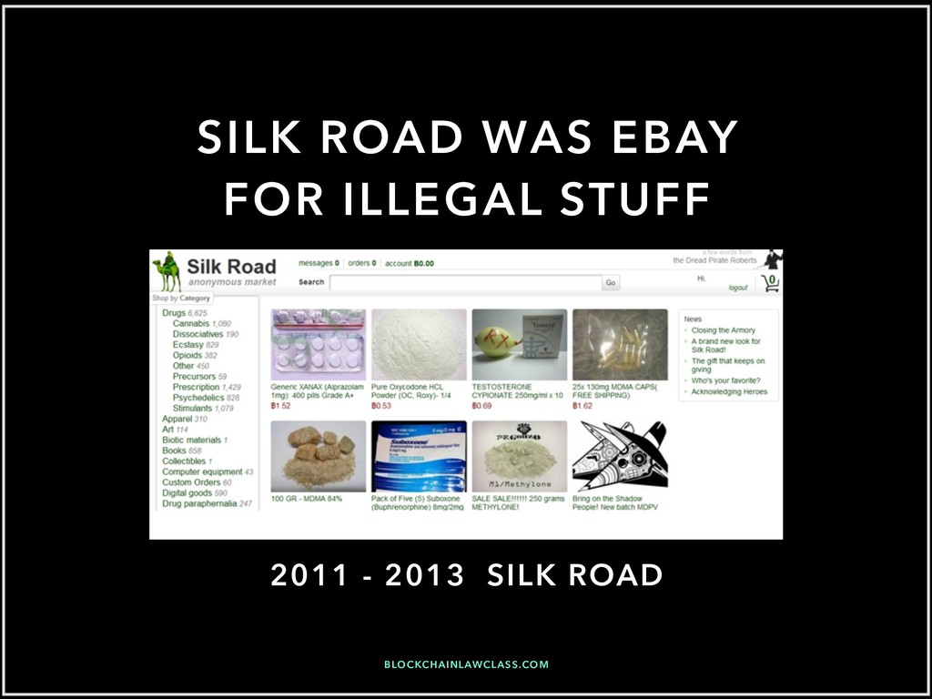SILK ROAD WAS EBAY FOR ILLEGAL STUFF BLOCKCHAIN...