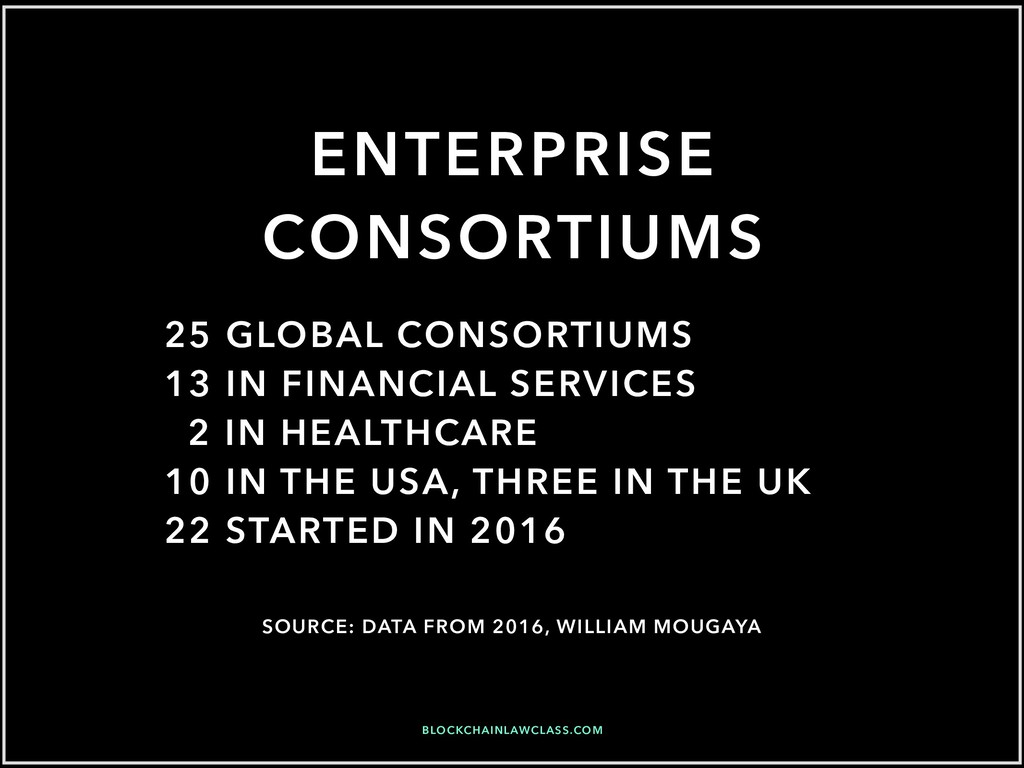 ENTERPRISE CONSORTIUMS 25 GLOBAL CONSORTIUMS 13...
