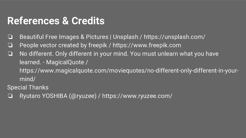 References & Credits ❏ Beautiful Free Images & ...