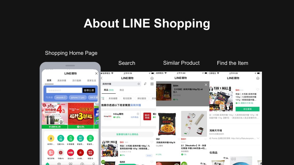 About LINE Shopping Shopping Home Page Search S...
