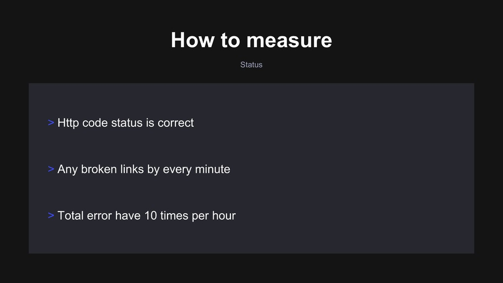 Status > Any broken links by every minute > Tot...