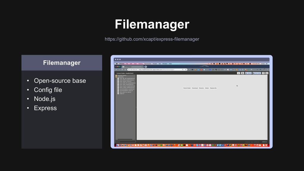 Filemanager Filemanager • Open-source base • Co...