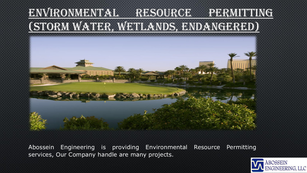 ENVIRONMENTAL RESOURCE PERMITTING (STORM WATER,...